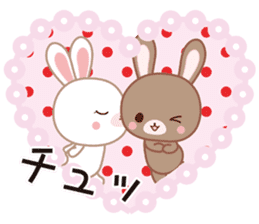 Lovey-Dovey bunnies Rai & Mai sticker #13582124