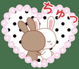 Lovey-Dovey bunnies Rai & Mai sticker #13582125