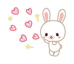 Lovey-Dovey bunnies Rai & Mai sticker #13582128