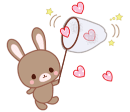 Lovey-Dovey bunnies Rai & Mai sticker #13582129