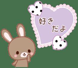 Lovey-Dovey bunnies Rai & Mai sticker #13582135