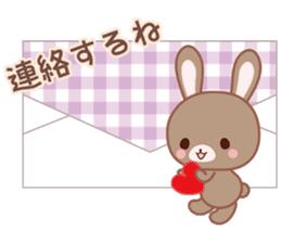 Lovey-Dovey bunnies Rai & Mai sticker #13582153