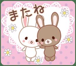 Lovey-Dovey bunnies Rai & Mai sticker #13582157