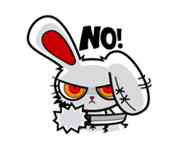 BLOODY BUNNY ANIMATED sticker #13583536