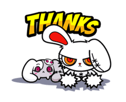 BLOODY BUNNY ANIMATED sticker #13583543