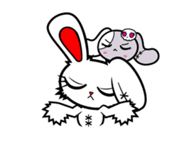 BLOODY BUNNY ANIMATED sticker #13583544