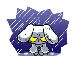 BLOODY BUNNY ANIMATED sticker #13583549