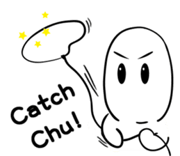 chu chu white II sticker #13592739