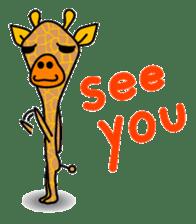 boring giraffe sticker #13596963