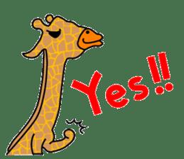 boring giraffe sticker #13596967