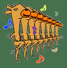 boring giraffe sticker #13596968