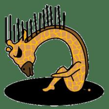 boring giraffe sticker #13596975