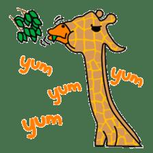 boring giraffe sticker #13596976