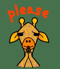 boring giraffe sticker #13596981