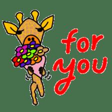 boring giraffe sticker #13596983