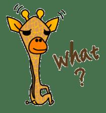 boring giraffe sticker #13596985