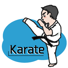 One frame with a karate friends 2