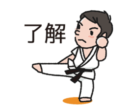 One frame with a karate friends 2 sticker #13597095