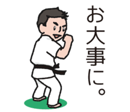 One frame with a karate friends 2 sticker #13597098