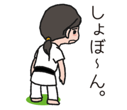 One frame with a karate friends 2 sticker #13597099