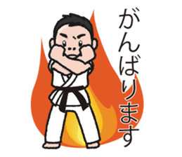 One frame with a karate friends 2 sticker #13597104