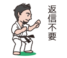 One frame with a karate friends 2 sticker #13597107