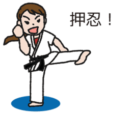 One frame with a karate friends 2 sticker #13597122