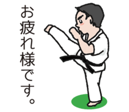 One frame with a karate friends 2 sticker #13597124