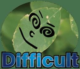 Chatting leaves sticker #13599081