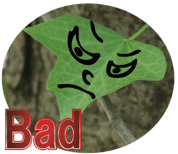 Chatting leaves sticker #13599083