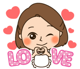 Sweet and kind wife's daily sticker. sticker #13599585