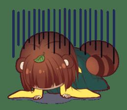 Tanuki & Fox girl sticker #13612670
