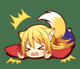 Tanuki & Fox girl sticker #13612671