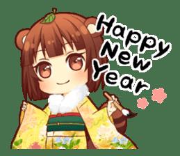 Tanuki & Fox girl sticker #13612678