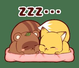 Tanuki & Fox girl sticker #13612682