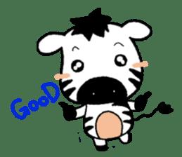 Zebra A-ban sticker #13621315