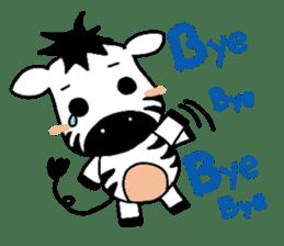Zebra A-ban sticker #13621339