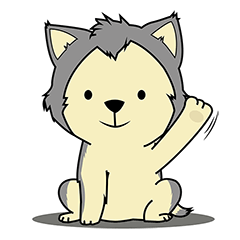 HUSKy Cuteness - Huskies emoji stickers