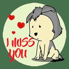 HUSKy Cuteness - Huskies emoji stickers sticker #13622345