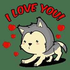 HUSKy Cuteness - Huskies emoji stickers sticker #13622354