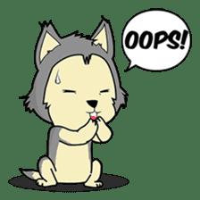 HUSKy Cuteness - Huskies emoji stickers sticker #13622363