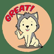 HUSKy Cuteness - Huskies emoji stickers sticker #13622371