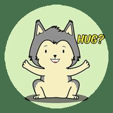 HUSKy Cuteness - Huskies emoji stickers sticker #13622372