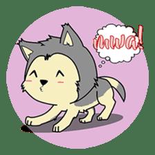 HUSKy Cuteness - Huskies emoji stickers sticker #13622373