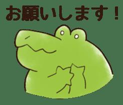 A funny crocodile 3 sticker #13624306