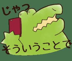 A funny crocodile 3 sticker #13624309