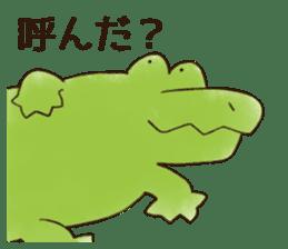 A funny crocodile 3 sticker #13624311