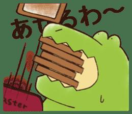 A funny crocodile 3 sticker #13624318