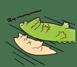 A funny crocodile 3 sticker #13624319