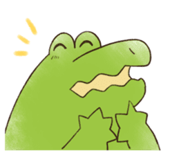 A funny crocodile 3 sticker #13624320